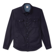 Wool Shirt Jacket - Navy