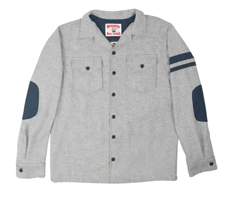 Light Grey Cotton CPO Shirt - Front
