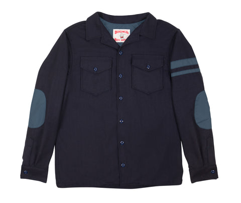 Navy Cotton CPO Shirt - Front