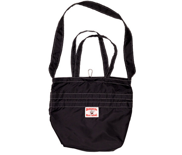 patches-front Black SurfNyl Tote - Front