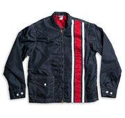Men's Limited-Edition 3 Stripe Racing Jacket - Navy & White / Red