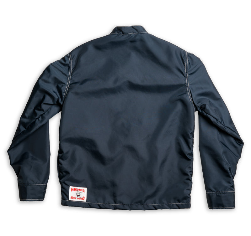 Mens Limited-Edition 3 Stripe Racing Jacket - Navy & White / Red