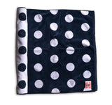 Polka Dot Beach Towel - Navy & White