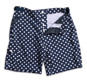 SurfStretch Tac Shorts - Polka Dot Flat Lay Front Open View
