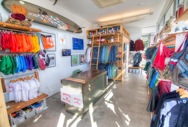 Inside view of Birdwell retail store