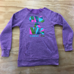 Womans Eco Fleece Block-Buster Raglan