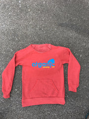 Womans Red Eco Fleece Cloud Raglan