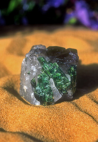Green Tourmaline/Smoky Quartz