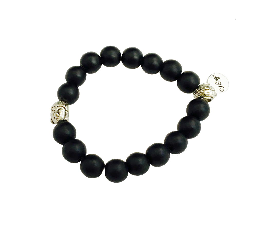 Buddha Bracelet (black-matte) - Jewelry for Women | V'Enza Creations