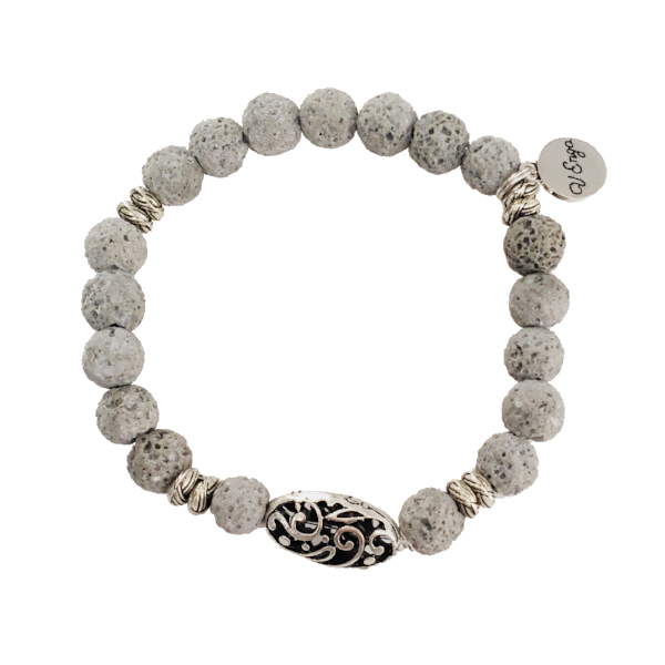 Essential Oil Bracelet ~ Grey - Jewelry for Women | V'Enza Creations