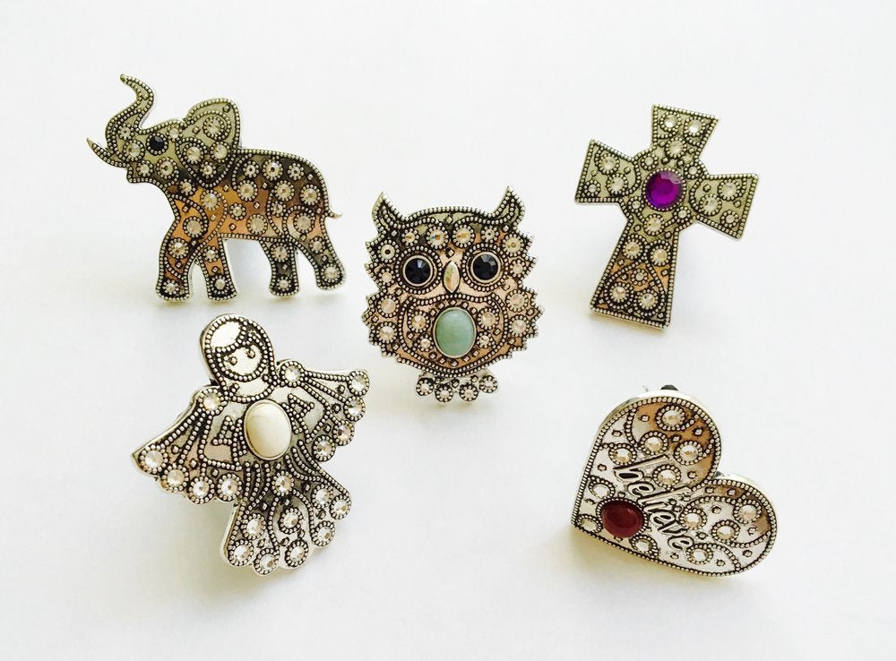 Car Vent Clips, Owl, Angel, Cross, Heart, Elephant - Essential Oil - Carma Car Collection | V'Enza Creations