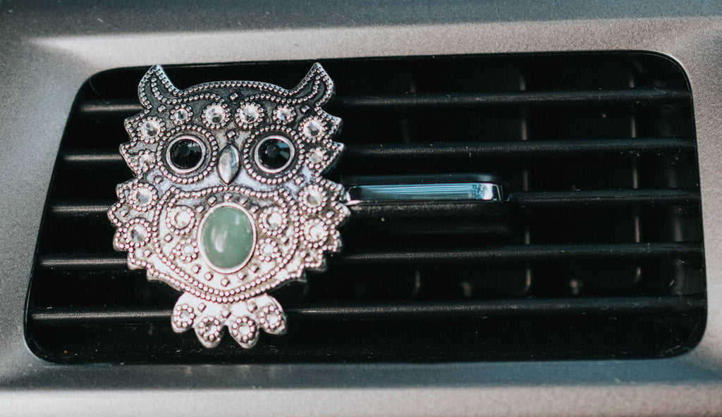 Owl Car Vent Clip – Essential Oil - Carma Car Collection | V'Enza Creations
