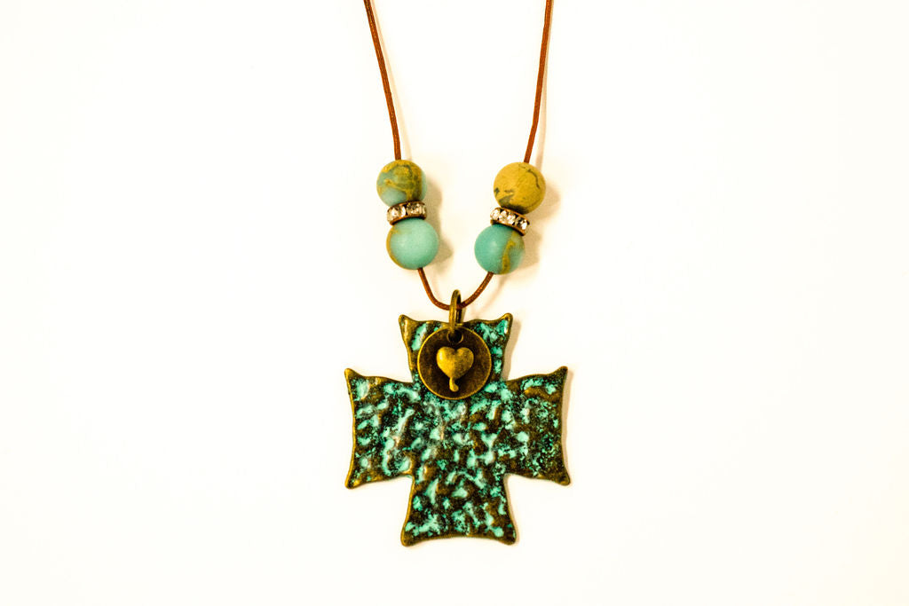 Cross Boho Necklace - Jewelry for Women | V'Enza Creations
