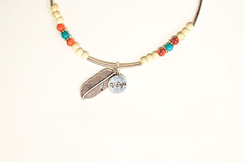 Feather Boho Anklet - Jewelry for Women | V'Enza Creations