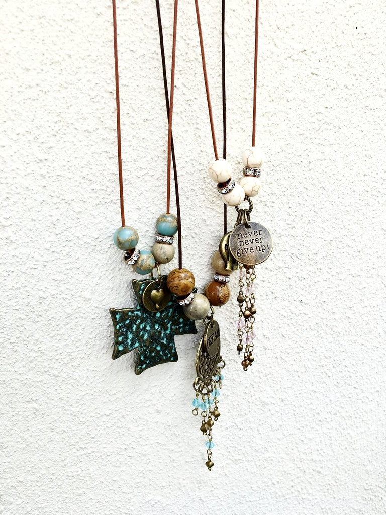 Dream Catcher Boho Necklace - Jewelry for Women | V'Enza Creations