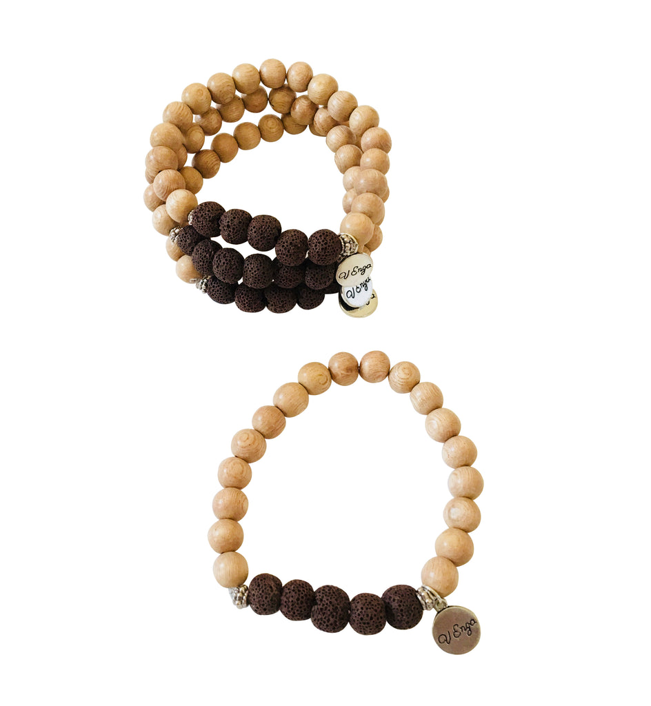 Essential Oil Bracelet ~ Brown, Earth Tones - Jewelry for Women | V'Enza Creations