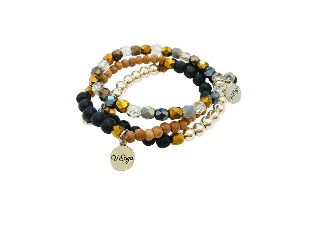 Essential Oil Bracelets Trio Set - Jewelry for Women | V'Enza Creations