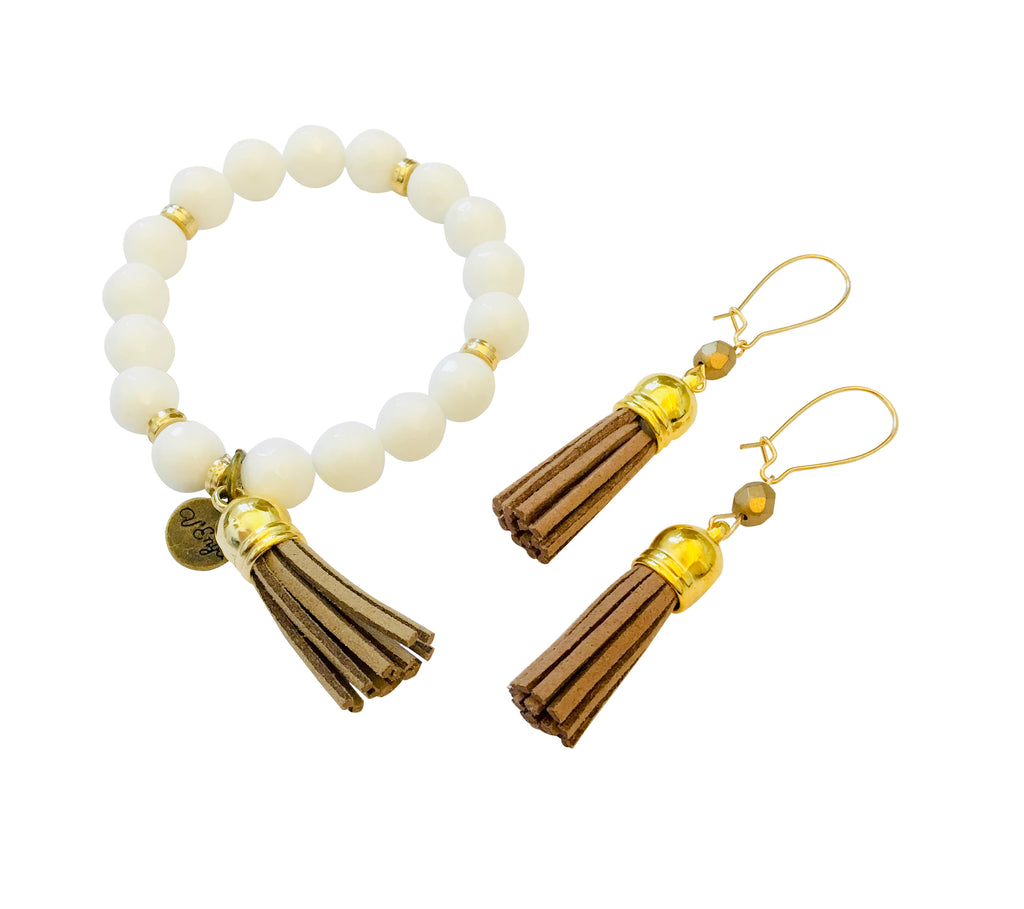 Journey Bracelet & Tassel Earrings- Jewelry for Women | V'Enza Creations
