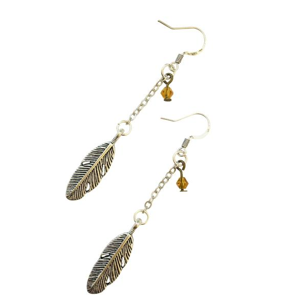 Boho Feather Earrings - Jewelry for Women | V'Enza Creations