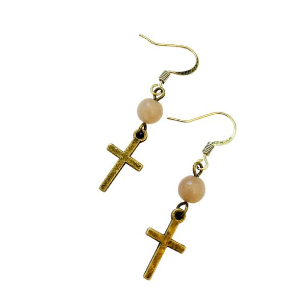 Bronze Cross Earrings - Jewelry for Women | V'Enza Creations