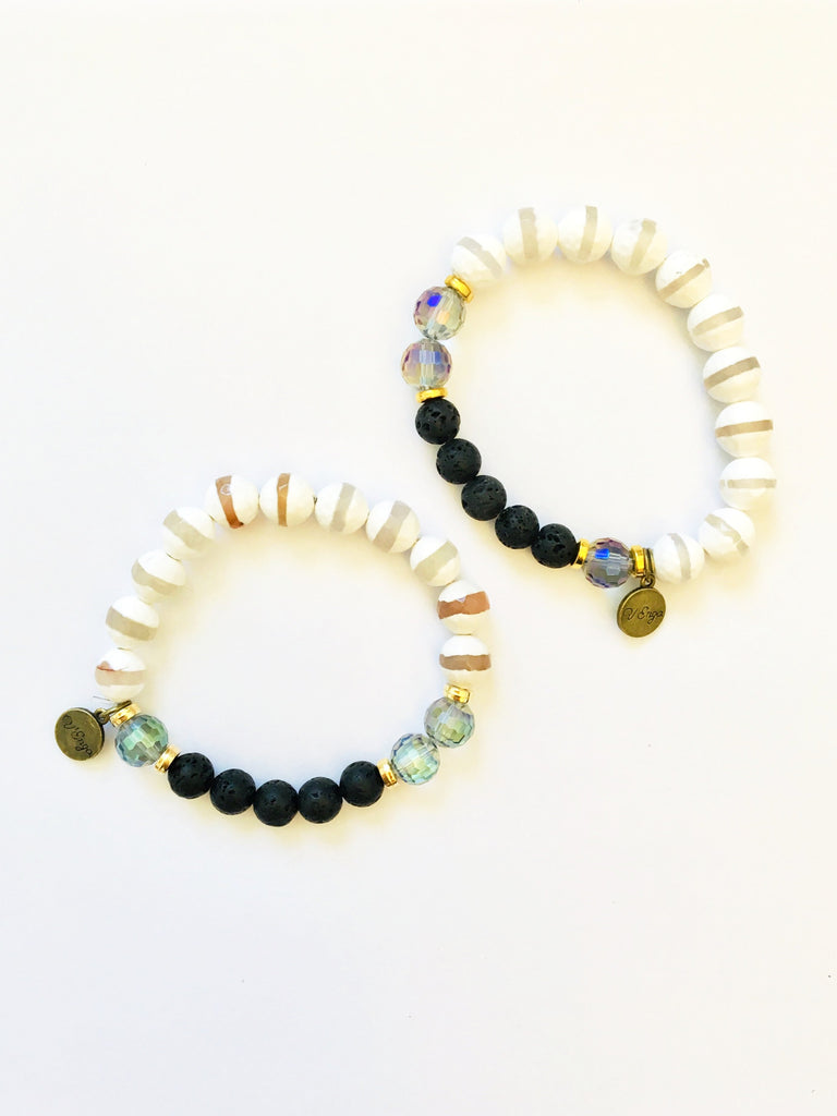 Essential Oil Bracelet ~ Tzi - Jewelry for Women | V'Enza Creations
