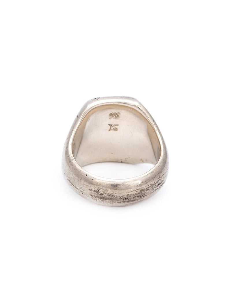 SIGNET RING WITH TOOL MARKS