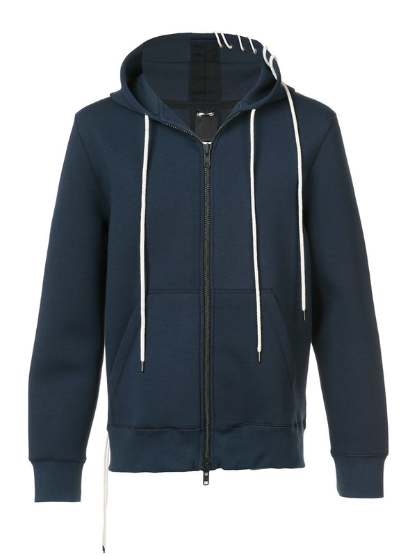 LACED ZIP UP HOODIE
