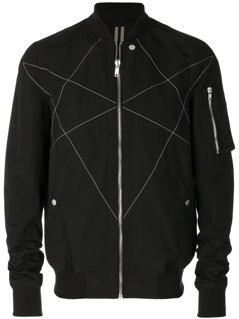 HEXAGRAM EMBROIDERY BOMBER