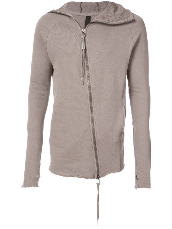 RAW ZIP SWEATSHIRT