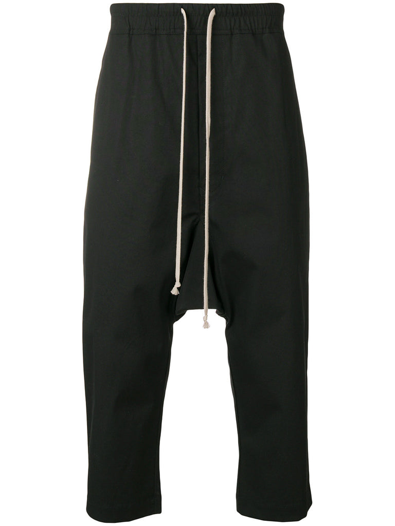 CROPPED DRAWSTRING DROPCROTCH PANTS