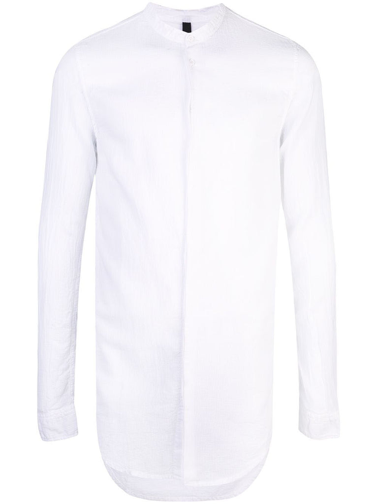 KOREAN NECK HIDDEN BUTTON SHIRT