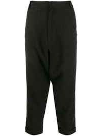 TWISTED DROP CROTCH TROUSERS