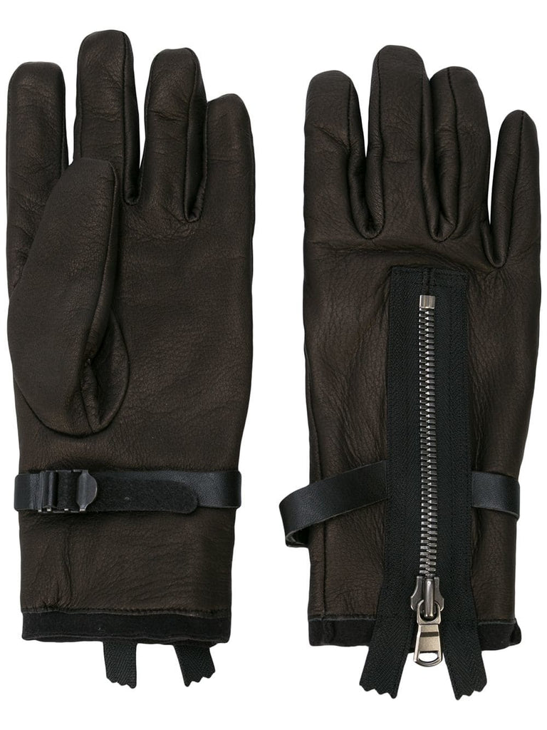 ZIPPER DETAIL GLOVES