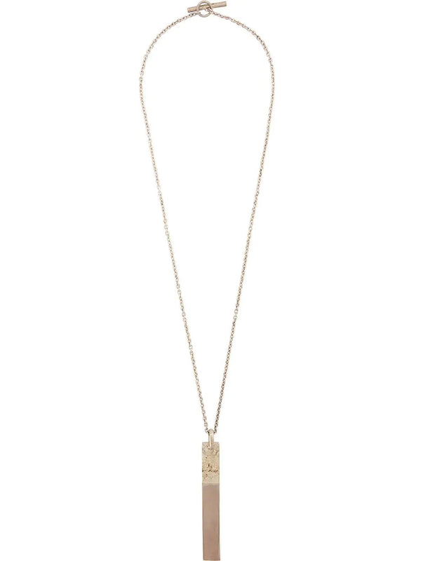 EXCLUSIVE WHITE GOLD PLATE NECKLACE