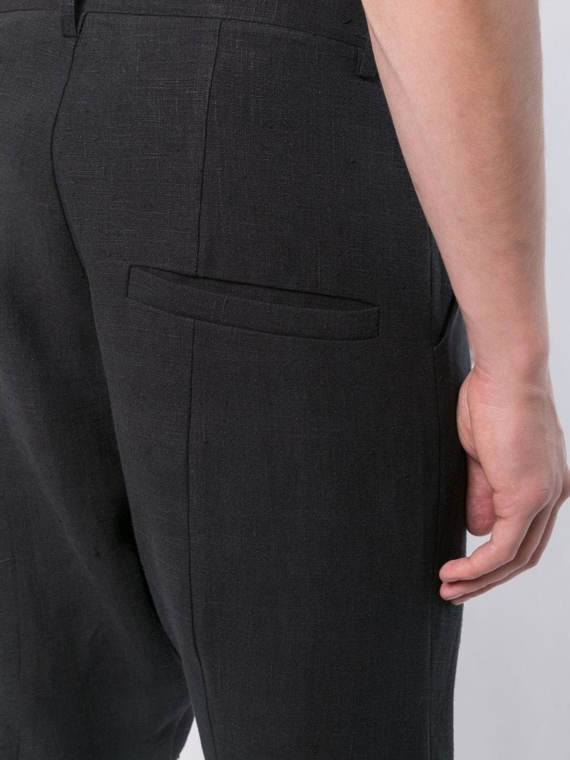 DROP CROTCH TROUSERS