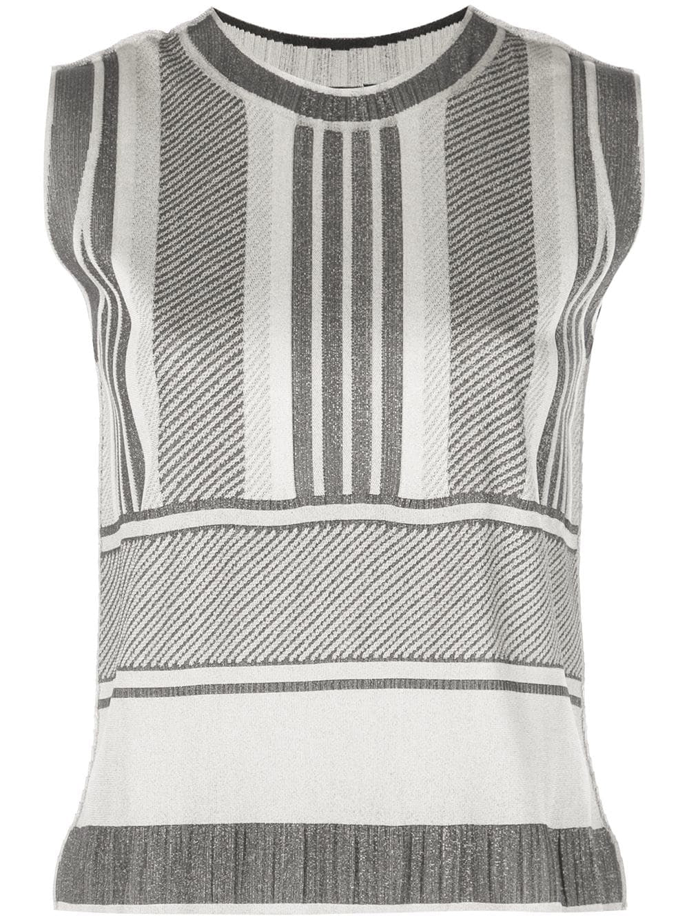 A-POC STRIPE SLEEVELESS TOP