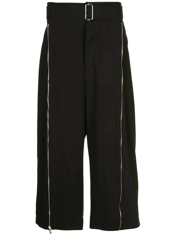 ZIPPER DETAIL WIDE TROUSER