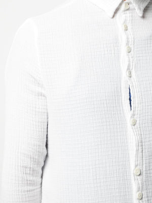 TEXTURED BUTTON UP SHIRT