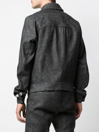 WOVEN COLLARED JACKET