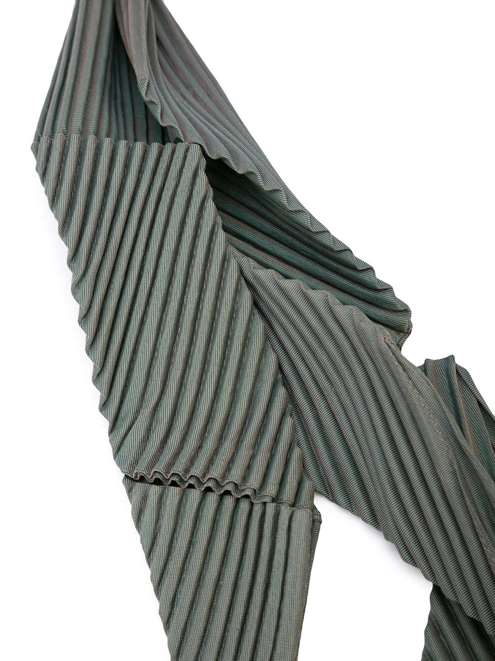 PLEATED ASYMMETRIC TIE