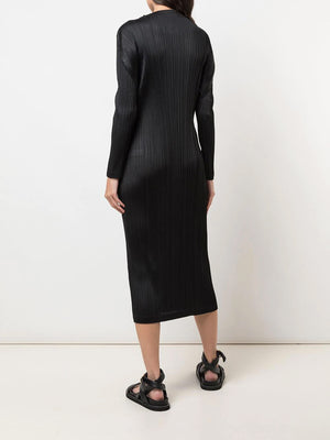 HIGH NECK LONG SLEEVE DRESS