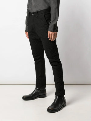 SLIM FIT TEXTURED TROUSERS
