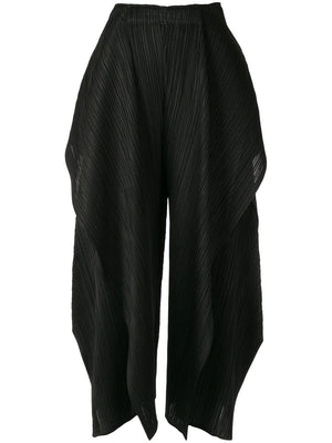 DRAPE DETAIL PLEATED TROUSERS