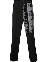 SCRIPTED CHINO TROUSERS