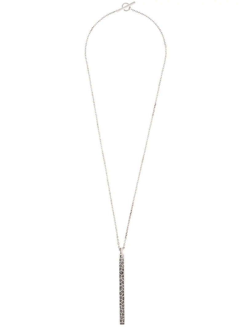 MEGA PAVE PLATE NECKLACE