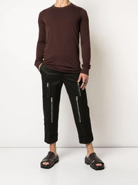 BURGUNDY BASIC LONG SLEEVE TEE