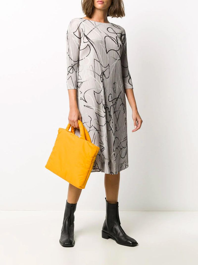 CONDUCTOR 3/4 SLEEVE PRINT DRESS