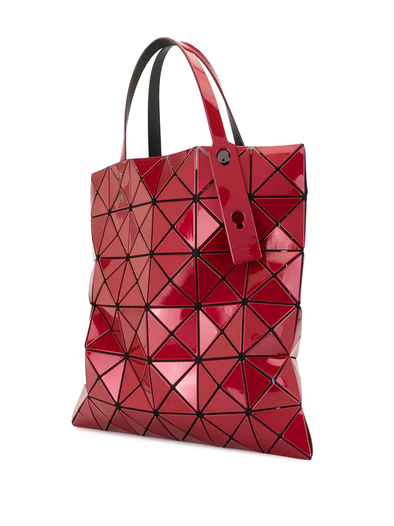 RED LUCENT PRISM TOTE BAG