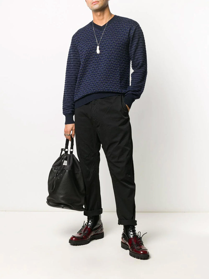 WORSTED WOOL JACQUARD SWEATER