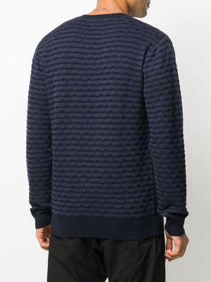 WORSTED WOOL JAQUARD SWEATER